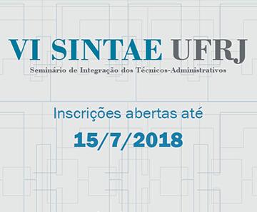 Cartaz de divulgação do VI SINTAE