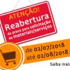 Reabertura prazo solicitação materiais/serviços