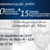 Celebração dos 30 Anos do Programa de Química Biológica, 15 Anos do Instituto de Bioquímica Médica Leopoldo de Meis.