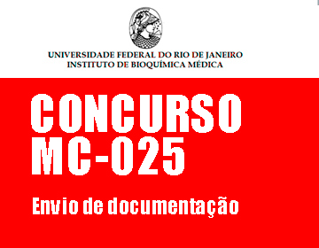 Concurso MC-025: Envio de documentação
